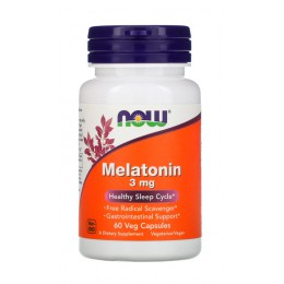 NOW. Melatonin 3 мг - 60 капс