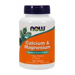 NOW. Calcium-Magnesium 500 мг - 100 таб
