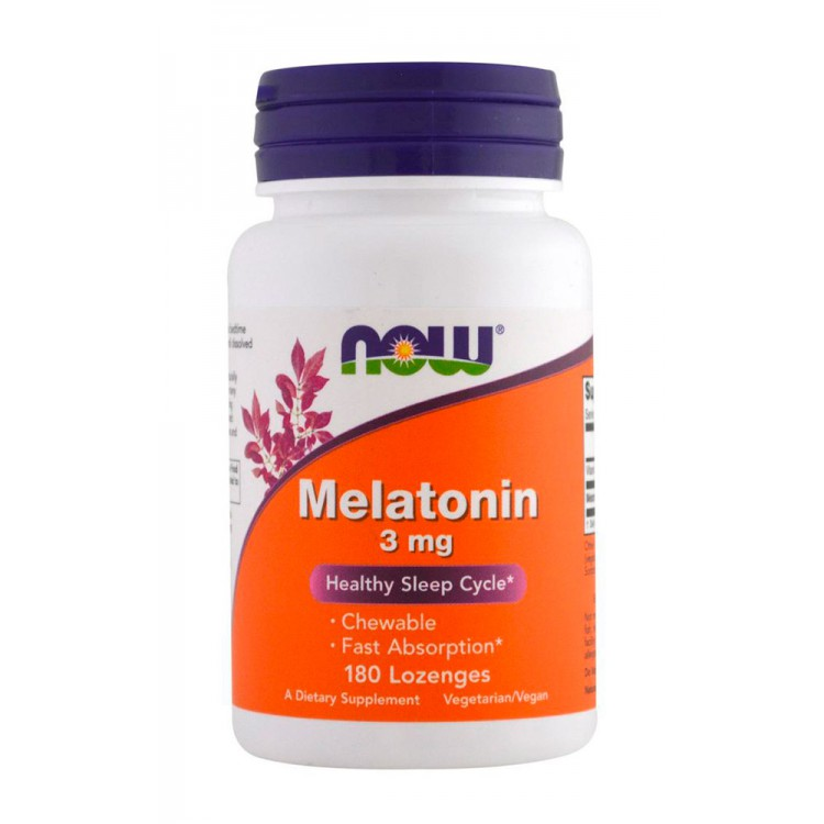 NOW. Melatonin 3 мг - 180 капс