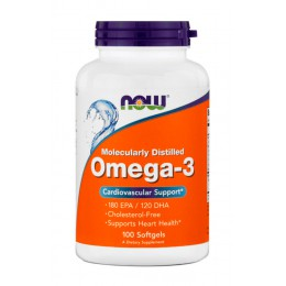 NOW. Omega 3 - 1000 мг - 100 капс