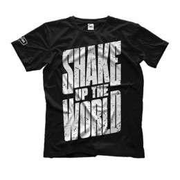 "Maxler. Футболка ""Shake up the world"" - черная"