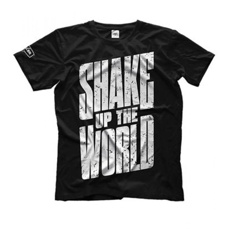 "Maxler. Футболка ""Shake up the world"" - черная"