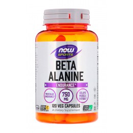 NOW. Beta Alanine - 750 мг - 120 капс