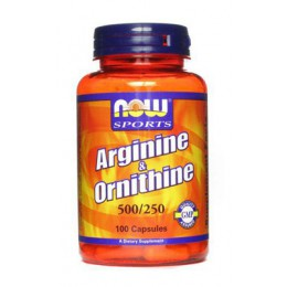 NOW. Arginine & Ornithine - 100 капс