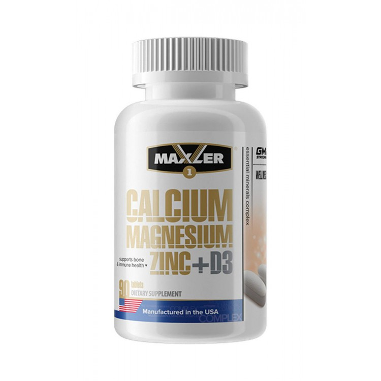 Maxler. Calcium Magnesium Zinc + D3 - 90 таб
