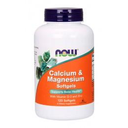 NOW. Calcium & Magnesium - 120 капс