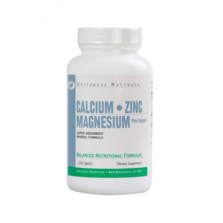 Universal. Calcium-Zinc-Magnesium - 100 таб