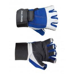 Befirst. Перчатки бело-синие с фиксатором
