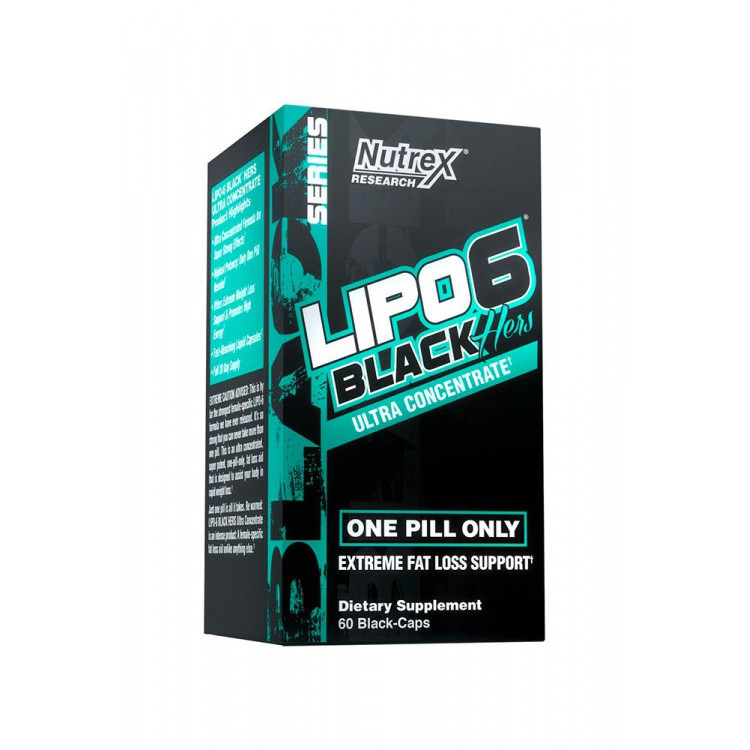 Nutrex. Lipo-6 BLACK HERS Ultra Con - 60 капс