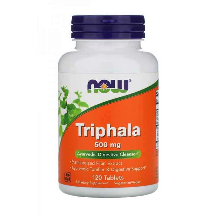 NOW. Triphala - 500 mg - 120 таб