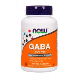 NOW. GABA 500 мг + B-6 - 100 капс