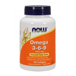 NOW. Omega 3-6-9 1000 мг - 100 капс