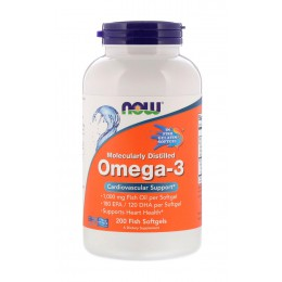 NOW. Omega 3 - 1000 мг - 200 капс