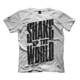 "Maxler. Футболка ""Shake up the world"" - белая"
