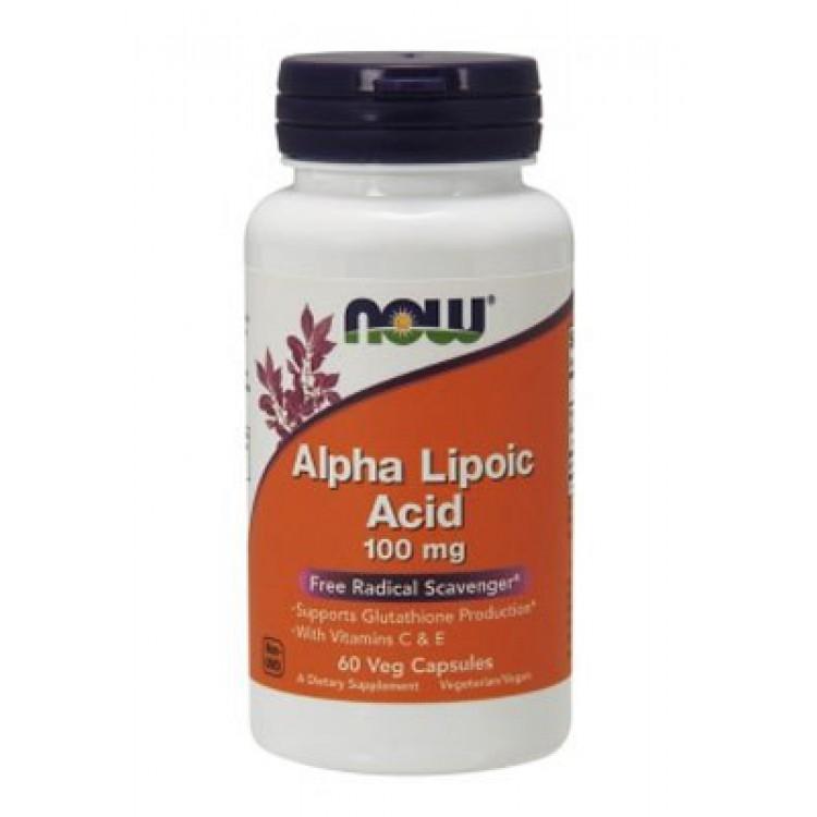 NOW. Alpha Lipoic Acid 100 мг - 60 капс