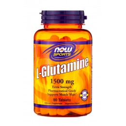 NOW. L-Glutamine 1500 мг - 90 таб