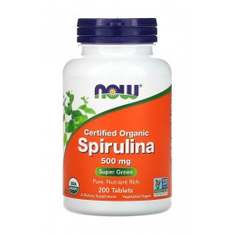 NOW. Spirulina 500 мг - 200 таб