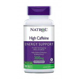 Natrol. High Caffeine 200 мг - 100 таб