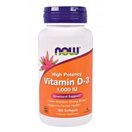NOW. Vitamin D-3 (1000ME) - 180 капс