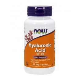 NOW. Hyaluronic Acid 50 мг + MSM - 60 капс