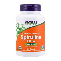 NOW. Spirulina 500 мг - 180 таб