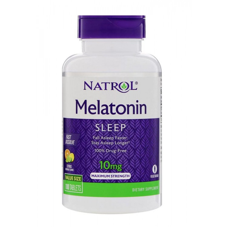 Natrol. Melatonin Sleep Advanced 10 мг - 60 таб