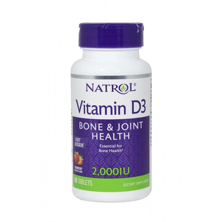 Natrol. Vitamin D3/2,000 МЕ- 90 таб