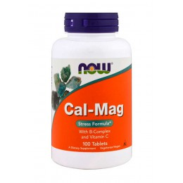NOW. Cal & Mag Stress Formula - 100 таб