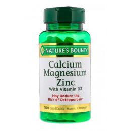 Natures Bounty. Calcium Zinc Magnesium - 100 таб