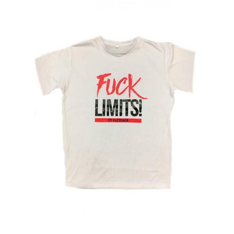 Футболка CT Fletcher Fuck Limits (Белая)