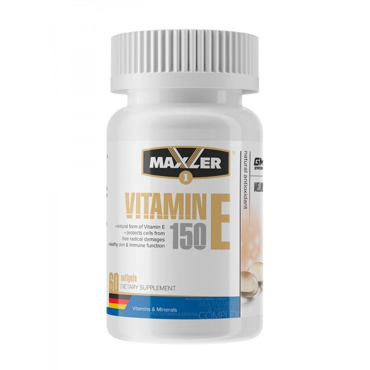 Maxler. Vitamin E Natural form 150 мг - 60 капс