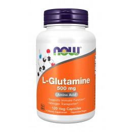 NOW. L-Glutamine 500 мг - 120 капс