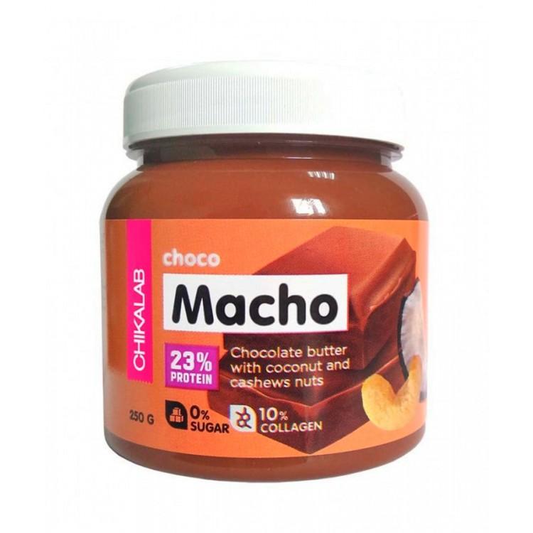 Chikalab. Macho Шоколадная паста c кокосом и кешью - 250 г