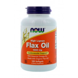 NOW. Flax Oil 1000 мг - 120 капс