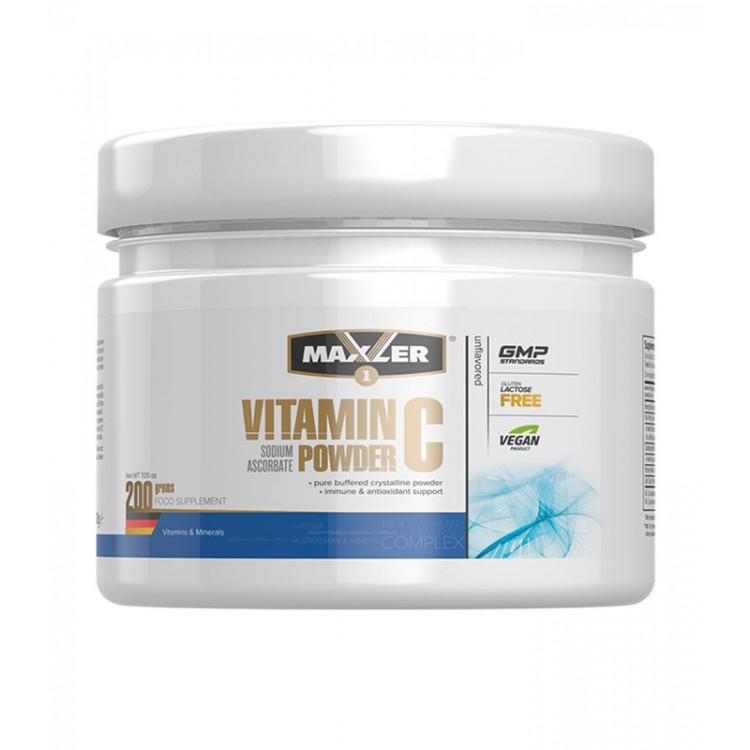 Maxler. Vitamin C Sodium Ascorbate Powder - 200 г