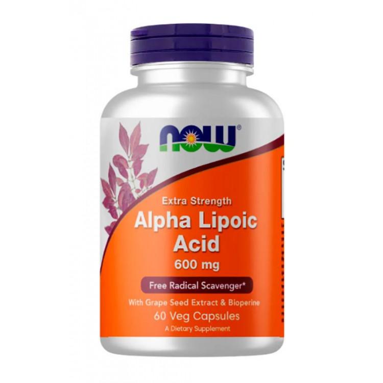 NOW. Alpha Lipoic Acid 600 мг - 60 капс