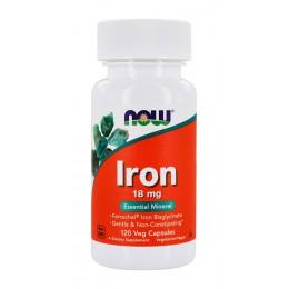 NOW. Iron 18 мг - 120 капс