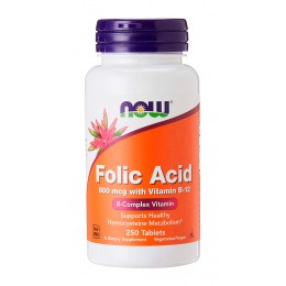 NOW. Folic Acid 800 мкг - 250 таб