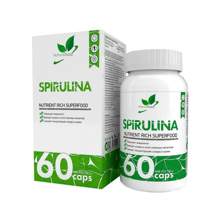 NaturalSupp. Spirulina - 60 капс