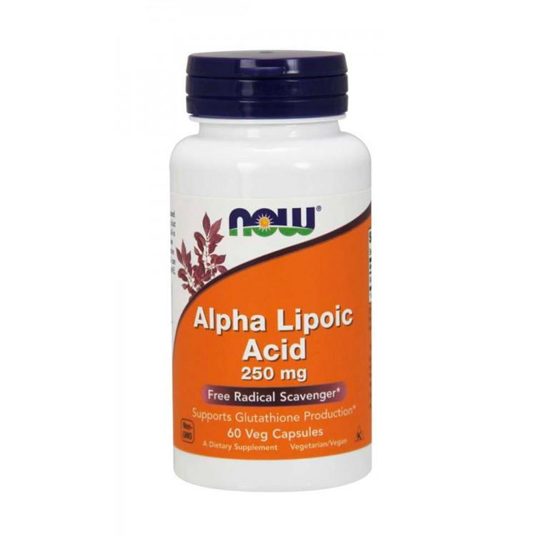 NOW. Alpha Lipoic Acid 250 мг - 60 капс