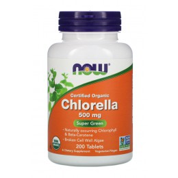 NOW. Chlorella 500 мг - 200 таб