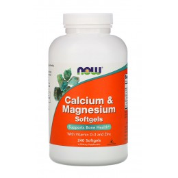 NOW. Calcium & Magnesium with Vitamin D3 - 240 капс