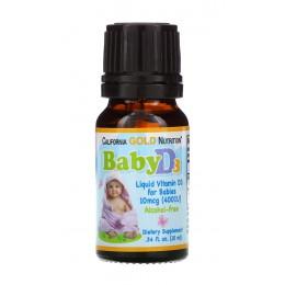 CaliforniaGold. Vitamin D-3 (400 МЕ) - 10 мл