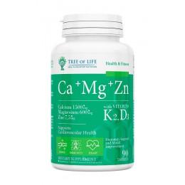 Tree of Life. Ca+Mg+Zn+Vitamin K2,D3 - 90 таб