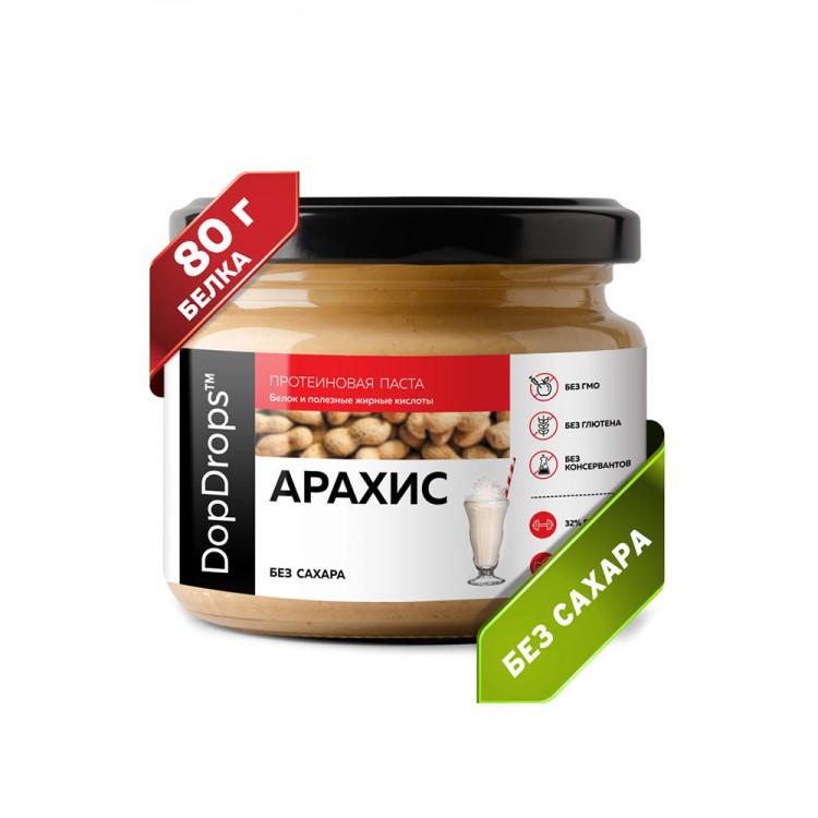 DopDrops. Паста арахисовая протеиновая - 250 г