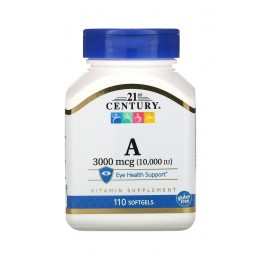 21st Century. Vitamin A 3000 мкг - 110 капс