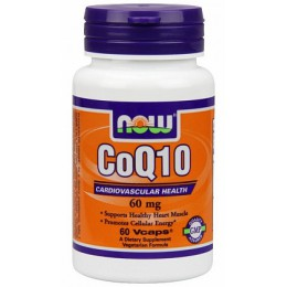 NOW CoQ10 60mg - 60 капс