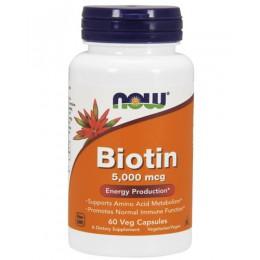 NOW. Biotin 5000 мкг - 60 капс